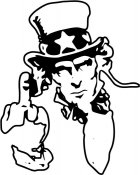Uncle Sam Flips the Bird