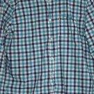 Sonoma Life Style Men's Plaid Flannel Shirt Black Green Size M Long Sleeve