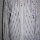 Consensus Classics L Pink/Black Striped Button Down Shirt