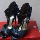 Guess Gwokemos Multi Suede Blue Sandals/Heels sz 9.5M