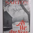 As We Are Now by May Sarton 1982 VTG Paperback