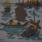 Needlepoint Made Easy A Complete Picture 971H Canvas Kit Boats on Water