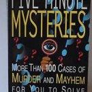 Five Minute Mysteries Ken Weber Great Book