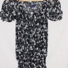 Miley Cyrus XS Sheer Paint Splatter Pattern Flouncy Top
