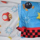 Super Mario Brothers Twin Flat & Fitted Sheets Mushrooms Bombs 2010 Nintendo