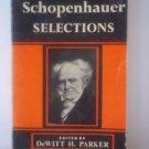 Arthur SCHOPENHAUER SELECTIONS Vintage 1956 Book, Classic Literature