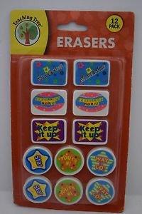Teaching Tree Inspirational Erasers Set of 12