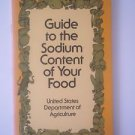 Guide to the Sodium Content of Your Food, USDA, 1985