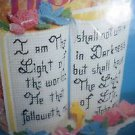 Bucilla Plastic Canvas Bible Holder/Bookends 1994 In Package 8x7x8 Kit #6134