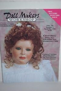 Doll Makers Workshop Magazine April / May 1992 Free Pattern