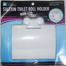 Home Collections  Suction Toilet Roll Holder w/Lid, White