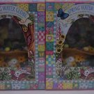 2 Easter Bunny Musical Water Globes NIB Plays Easter Parade and Peter Cottontail