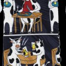 Ox Cow Dinner Drink Cartoon Fancy Novelty Neck Tie