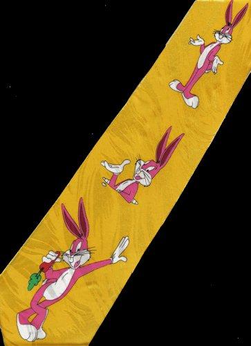 Bugs Bunny Looney Tunes Carrot Cartoon Fancy Novelty Neck Tie