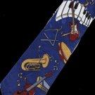 Keyboard Guitar Violin Trombone Musical Fancy Novelty Neck Tie