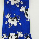 Blue Cow Animal Fancy Novelty Neck Tie