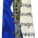 Clarinet Musical Instrument Music Fancy Novelty Neck Tie