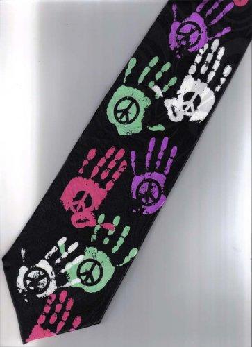 Peace Punk & Rock Fancy Novelty Neck Tie