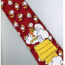 Snoopy Snow Dog Cartoon Fancy Novelty Neck Tie