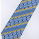201211 Blue Yellow White Stripe Neck Tie