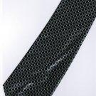 201219 Black Grey White Stripe Neck Tie