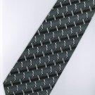 201229 Black White Grey Stripe Neck Tie