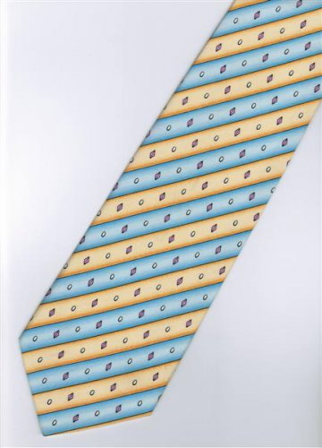 201234 Blue Orange Purple Stripe Neck Tie