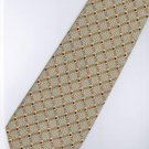 201243 Brown Grey White Stripe Neck Tie