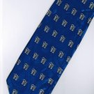 Chinese Calligraphy Fu Good Luck Fortune Dark Blue Novelty Neck Tie