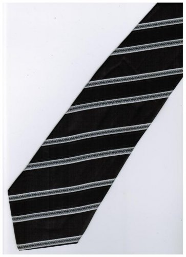 EB6 Black White Stripe Neck Tie