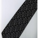 EB14 Black White Stripe Neck Tie