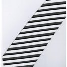 EB17 Black White Stripe Neck Tie