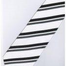 EB19 Black White Stripe Neck Tie
