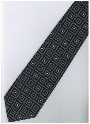 ES6 Silver Dark Box Stripe Neck Tie