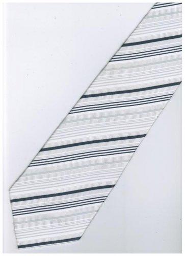 ES9 Silver White Stripe Neck Tie