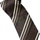 EBR4 Brown Khaki Stripe Neck Tie
