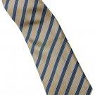 EBR5 Brown Khaki Silver Stripe Neck Tie