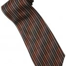 EBR8 Brown Khaki Black Stripe Neck Tie