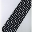 EDB22 Blue White Black Stripe Neck Tie
