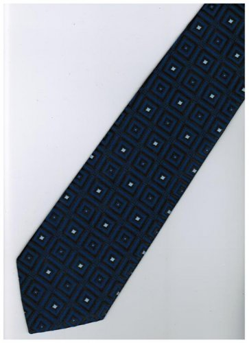 EDB25 Blue Black Box Stripe Neck Tie