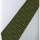 EG8 Green Batik Stripe Neck Tie