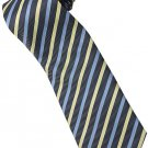 ELB7 Blue Yellow Black Stripe Neck Tie
