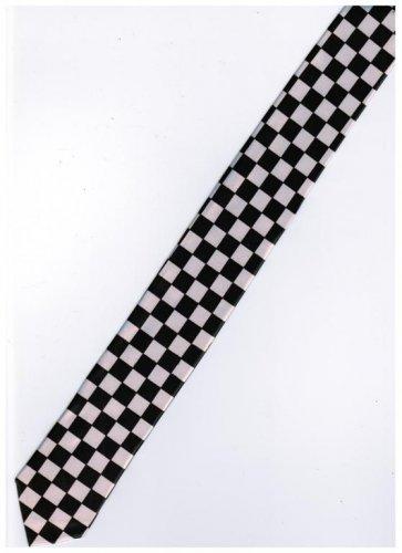 Orange Black 5cm Neck Tie