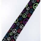 Peace Symbol Slim Fancy Neck Tie