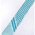 Sky Blue White Slim Stripe Neck Tie