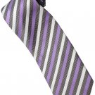 EPP03 Purple White Black Stripe Neck Tie