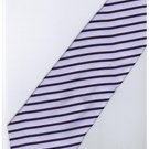 EPP07 Purple Black White Stripe Neck Tie