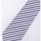 EPP08 Purple White Stripe Neck Tie