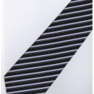 EPP09 Purple Black Stripe Neck Tie