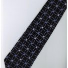 EPP16 Purple Black White Stripe Neck Tie